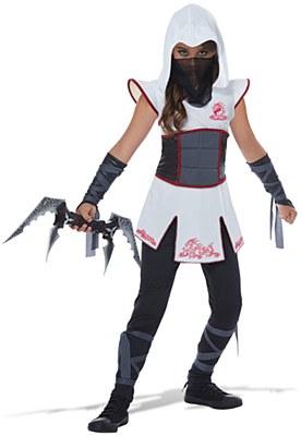 Fearless White Ninja Child Costume