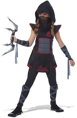 Fearless Black Ninja Child Costume