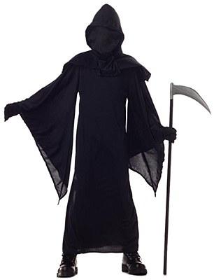 Hidden Face Horror Robe Child Costume