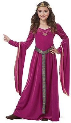 Medieval Pink Princess Child Costume