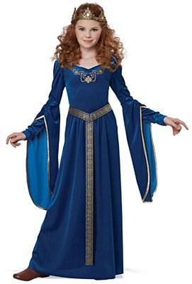 Medieval Blue Princess Child Costume