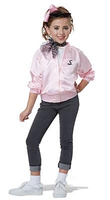 50's Varsity Pink Satin Child Jacket