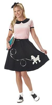 50's Hop Poodle Skirt Adult Costume