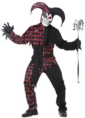Sinister Evil Jester Adult Costume