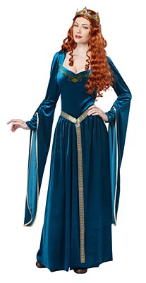 Lady Guinevere Teal Adult Costume