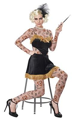 The Amazing Tattooed Lady Adult Costume