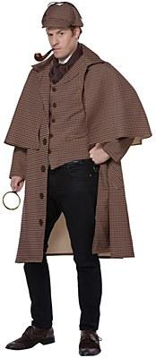 English Detective Sherlock Holmes Adult Costume