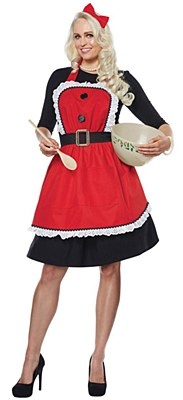Mrs. Clause Apron And Hair Bow Set
