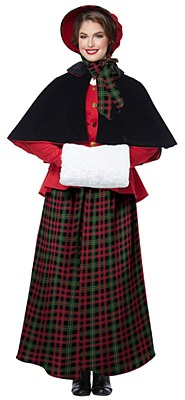 Holiday Caroler Dickens Woman Adult Costume