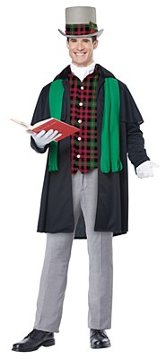 Holiday Caroler Dickens Man Adult Costume