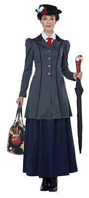 English Nanny / Mary Poppins Adult Costume