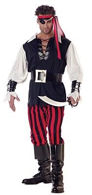 Cutthroat Pirate Man Adult Plus Costume