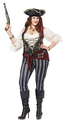 Brazen Buccaneer Adult Plus Costume