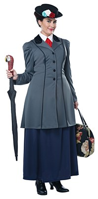 English Nanny / Mary Poppins Adult Plus Costume