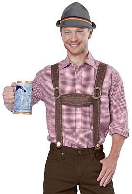 Lederhosen Suspenders And Hat Kit