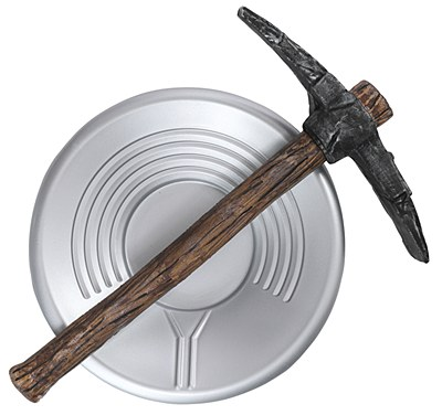 Prospector Miner Pick Axe And Pan Set