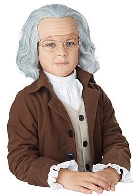 Benjamin Franklin Child Wig