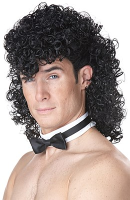 Girls Night Out Curly Mullet Wig