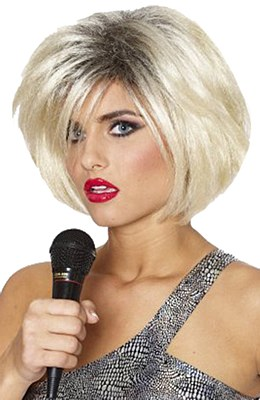 80's Diva Blonde Wig