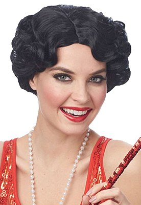 Daisy Curly Flapper Black Wig