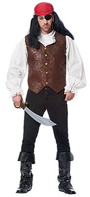 Pirate Distressed Adult Vest