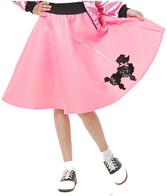 Child Poodle Skirt Bubblegum