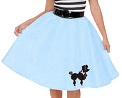 Child Poodle Skirt Blue