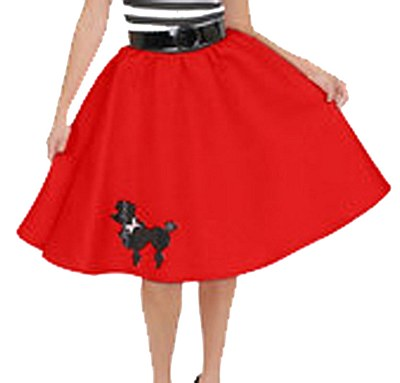Child Poodle Skirt Red