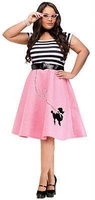 Poodle Dress Adult Plus Costume