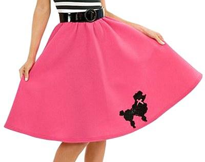 50's Adult Pink Poodle Skirt