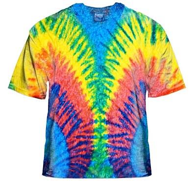 Tie Dye Woodstock Adult Shirt