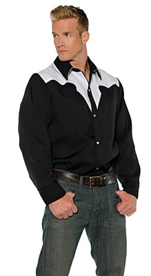 Cowboy Men's Shirt With Top Design