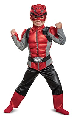 Power Rangers Beast Morphers Red Ranger Deluxe Muscle Toddler Costume