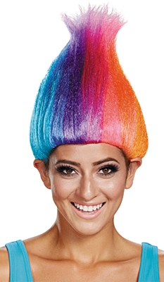 Troll Rainbow Adult Wig