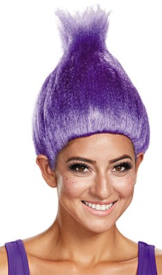 Troll Purple Adult Wig
