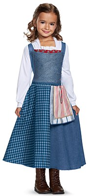 Disney Beauty And The Beast Belle Village Dress Child Costume
