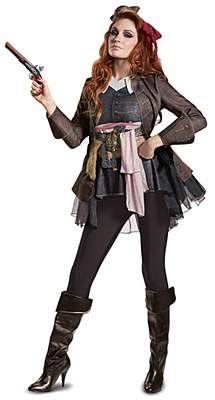 Pirates Of The Caribbean Jack Sparrow Ladie's Deluxe Adult Costume