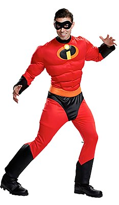 Mr. Incredible Deluxe Muscle Adult Costume