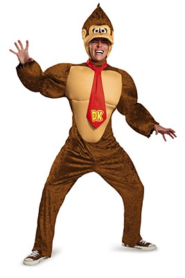 Super Mario Donkey Kong Deluxe Muscle Adult Costume