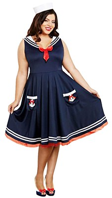 All Aboard Sailor Adult Plus Costume