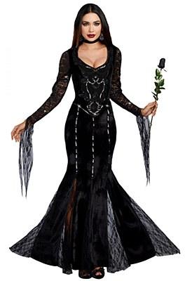Frightfully Beautiful Morticia Adult Costume