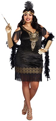 Swanky Flapper Adult Plus Costume