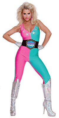 Glow Wrestling Champ Adult Costume