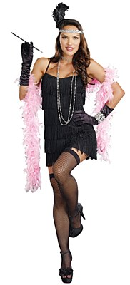 Flapper Basic Mini Fringe Dress