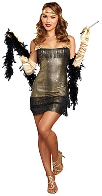 Shimmy Shake Flapper Adult Costume