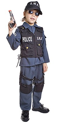 Swat Police Toddler Child Costume