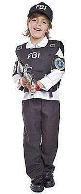 FBI Agent Toddler Child Costume