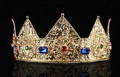 Deluxe Ladies Metal Peak Crown