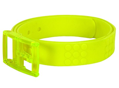 Adjustable Candy Rubber Neon Yellow Belt