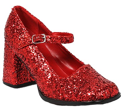 School Girl Red Glitter Women's Shoes